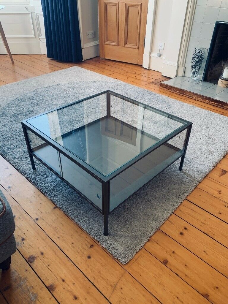 Couchtisch Quadratisch Ikea Ikea Sammanhang Glass/steel Grey Square Coffee Table | In