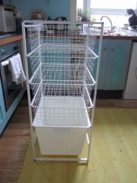 Ikea Storage System with ALGOT frame, 4 KOMPLEMENT wire ...