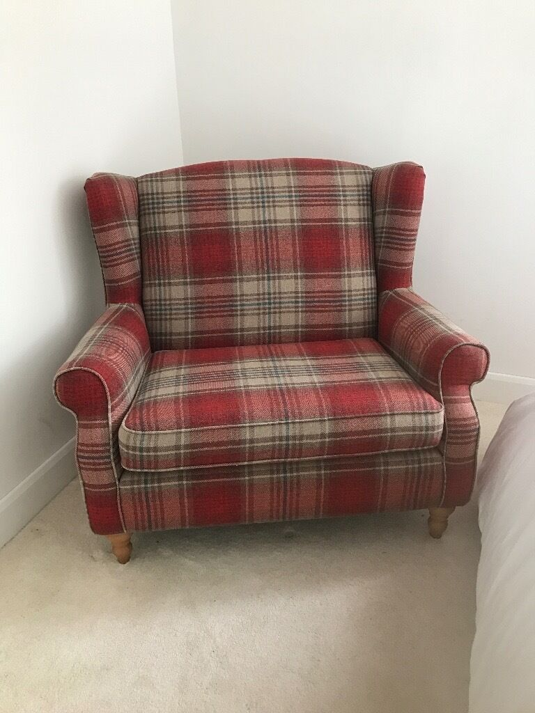 Grey Sofas For Sale Gumtree Next Sherlock Snuggle Chair (tartan) | In Newlands