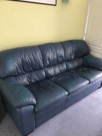 Blue Leather Sofa Home Decorators Collection Gordon Blue ...