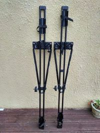 2x Thule 566 bike bicycle car roof racks/carriers for roof ...