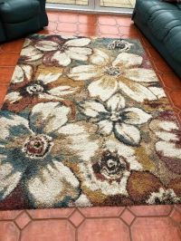 Rug, coloured, long pile, very good condition. From Aldiss ...