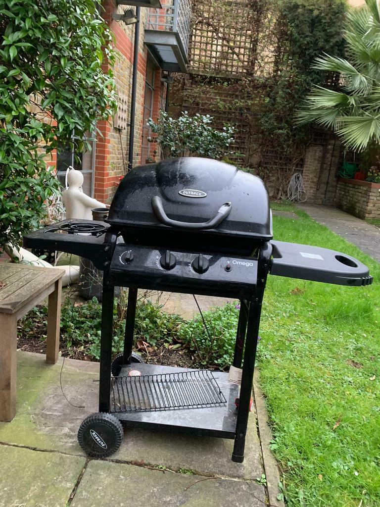 Large Mirrors Gumtree London Outback Omega 250 Gas Hooded Bbq With Side Burner In
