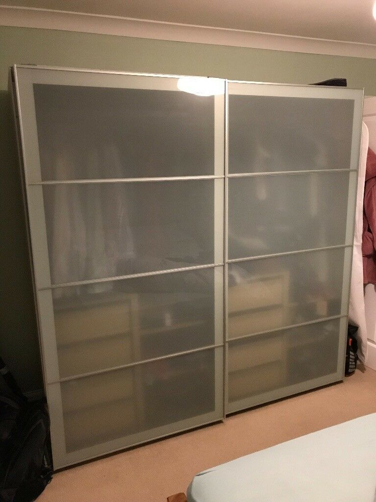 Ikea Wardrobe For Sale Ikea Pax Double Wardrobe For Sale, Wood Effect With Glass