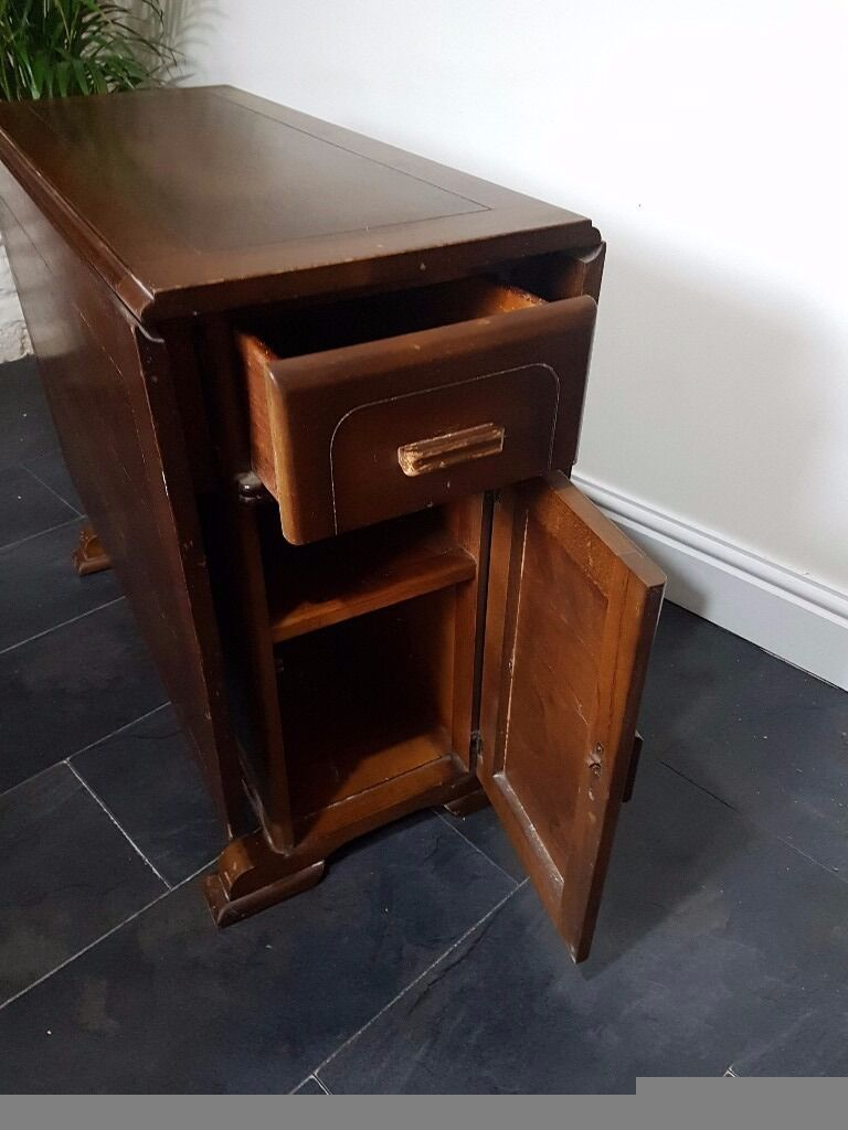 Antique Drop Leaf Table With Storage In Ammanford