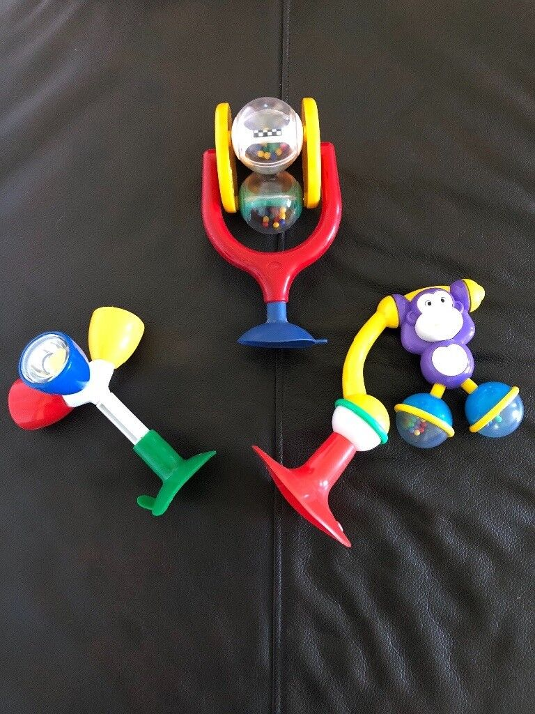 Baby Pram Edinburgh Set Of Three High Chair Stick On Rattles In Hilperton