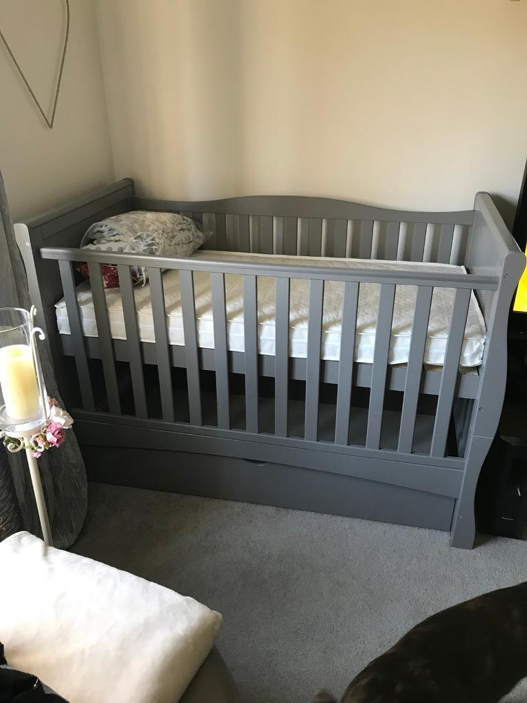 Grey Sofas For Sale Gumtree Mason Grey Sleigh Cot Bed | In Toton, Nottinghamshire
