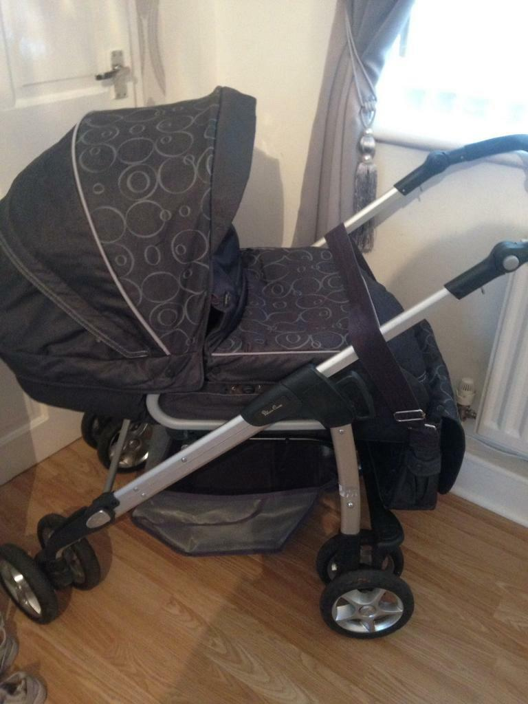 Silver Cross Pushchair Umbrella Silver Cross Linear Freeway Pram Plus Spare Pram Seat Base