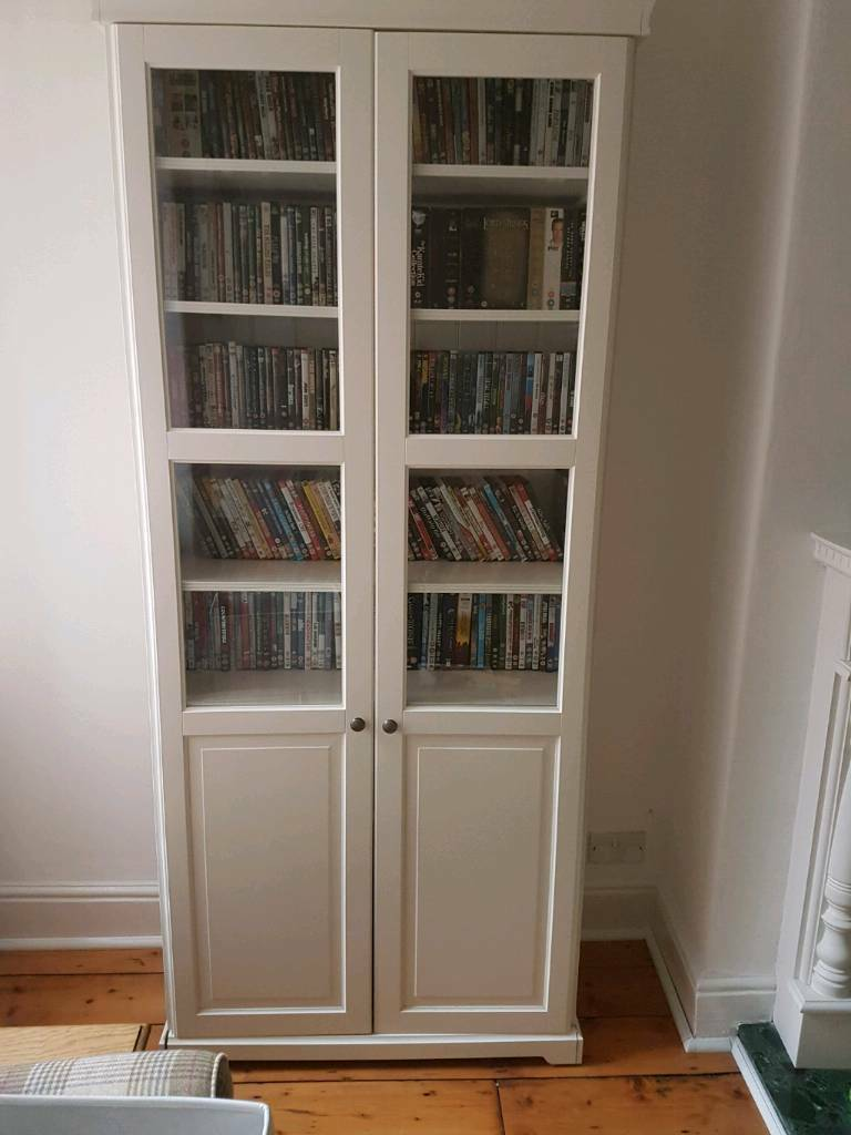 Sold Ikea Liatorp Bookcase With Glass Doors In Urmston