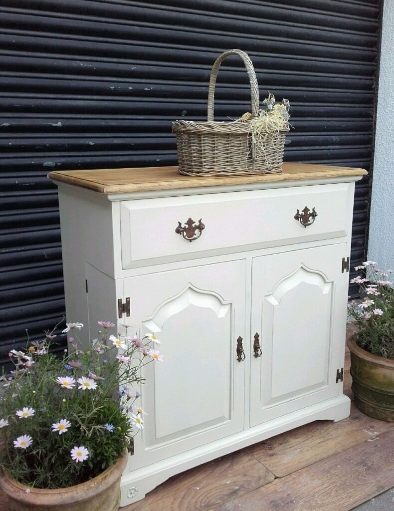 Vintage Sideboard Yorkshire Solid Oak Shabby Chic Kitchen Dresser Buffet Rustic
