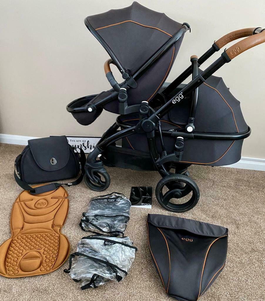 Egg Strollers Review Tandem Double Egg Pram Pushchair Stroller Carrycot