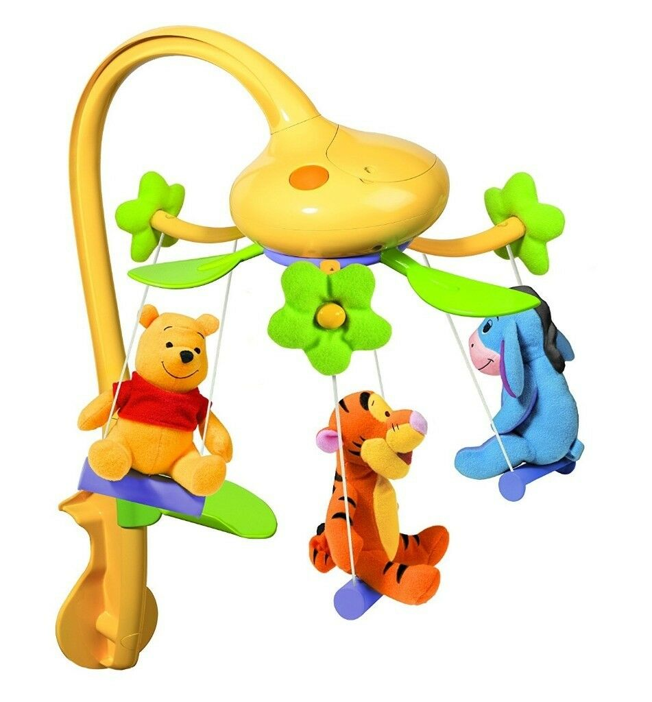 Mamas Papas Footmuff Tomy Disney Winnie The Pooh Swing Time Baby Cot Mobile