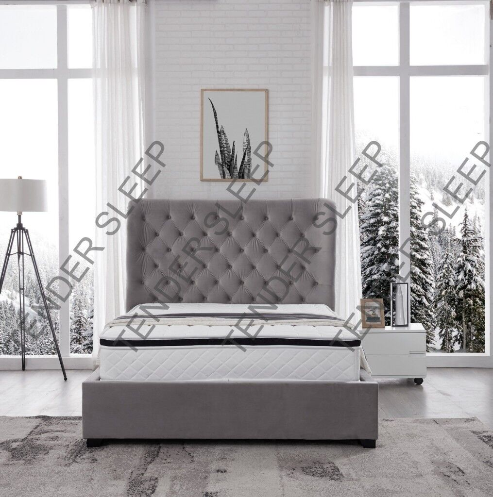 Gas Lift Ottoman Bed Brand New Double Velvet Butterfly Storage Ottoman Gas Lift Up Bed Frame In Redbridge London Gumtree