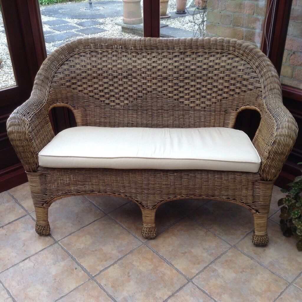 2 Seater Rattan Sofa Uk Wicker Conservatory Furniture 2 Seater Sofa 2 Arm Chairs