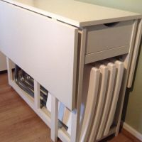 Drop Leaf Table with Storage - Bing images