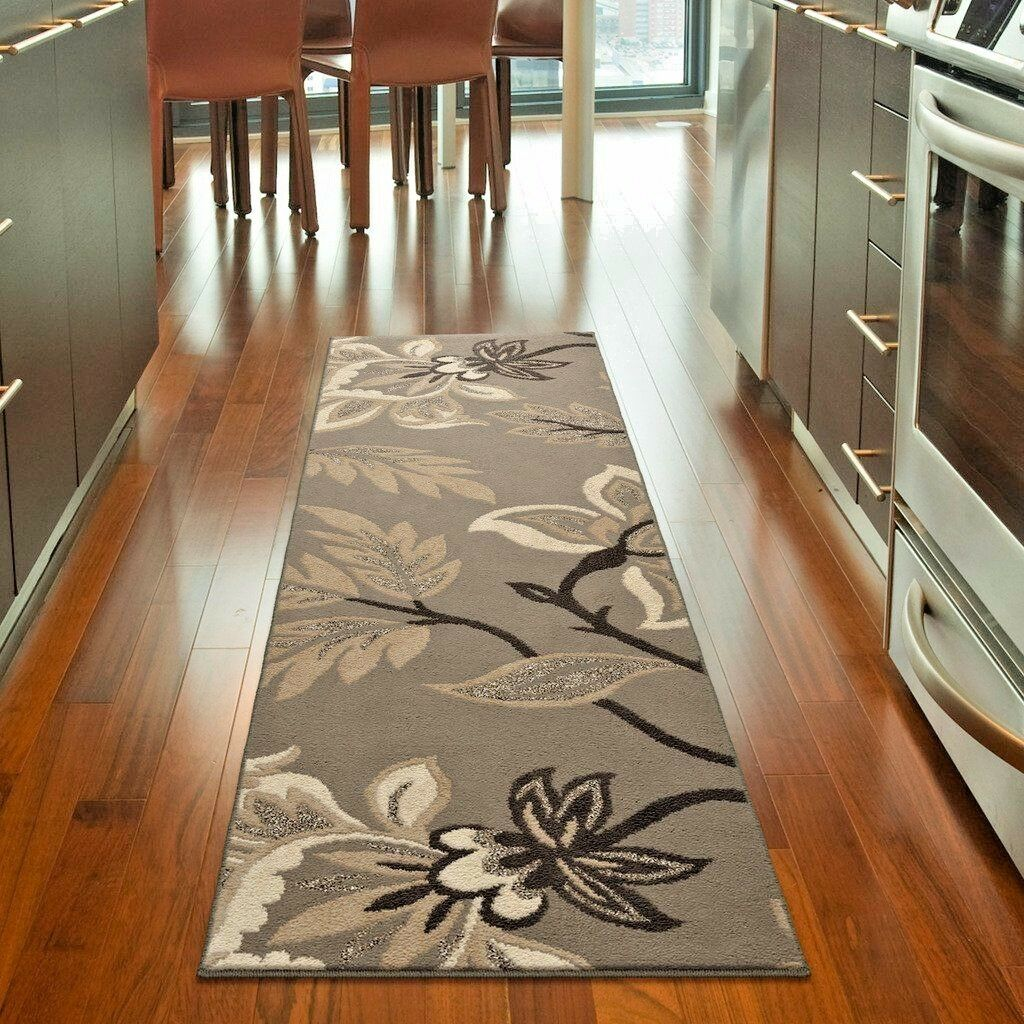 Kitchen Rugs Details About Runner Rugs Carpet Runners Area Rug Runners Modern Gray Floral Cool Kitchen Rugs