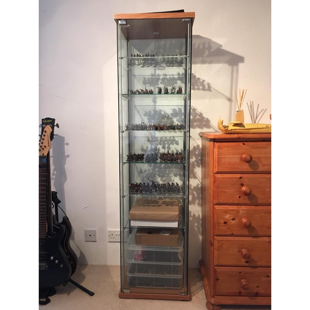 Ikea Glass Display Cabinet Ikea Detolf Glass Display Cabinet In Langport Somerset
