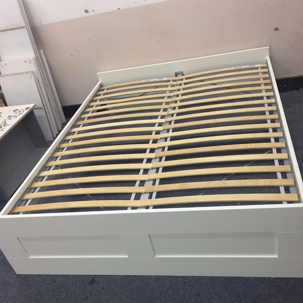 Ikea Bed Slats Beds Bed Frames Ikea Ikea Brimnes Bed [double] With Luroy Slats | In New Cross