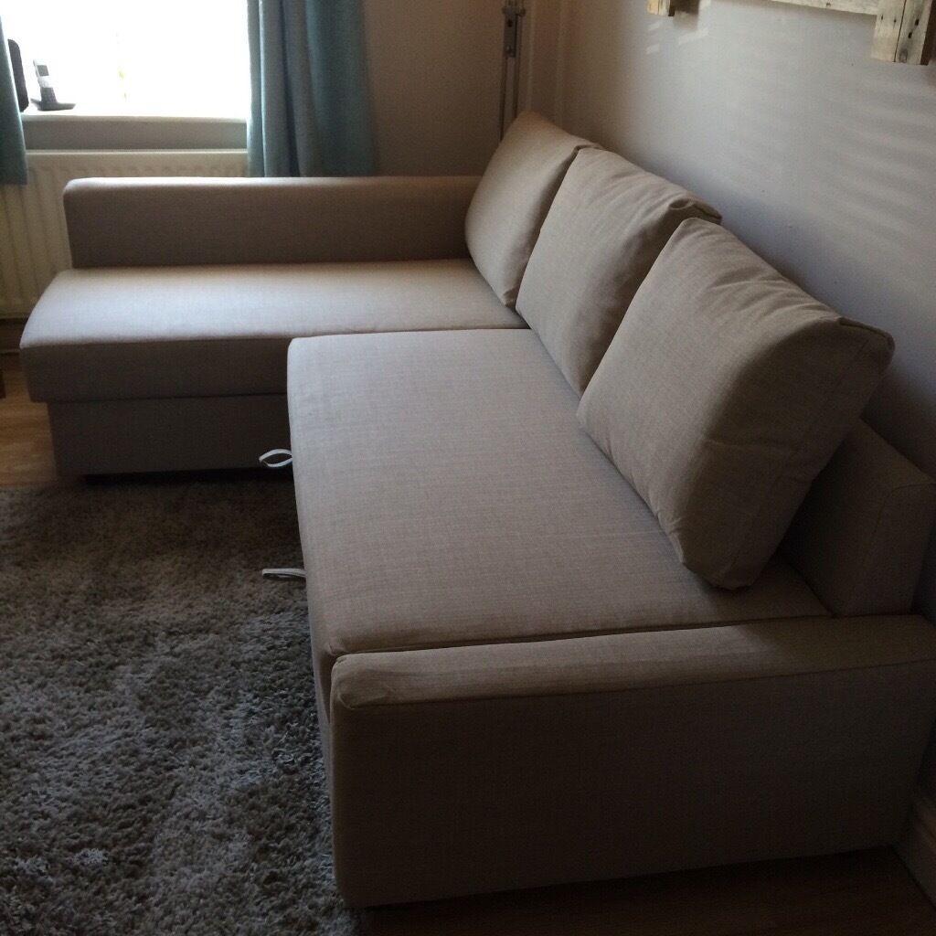 Ikea Friheten Chaise Longue Corner Sofa Bed In Beige With