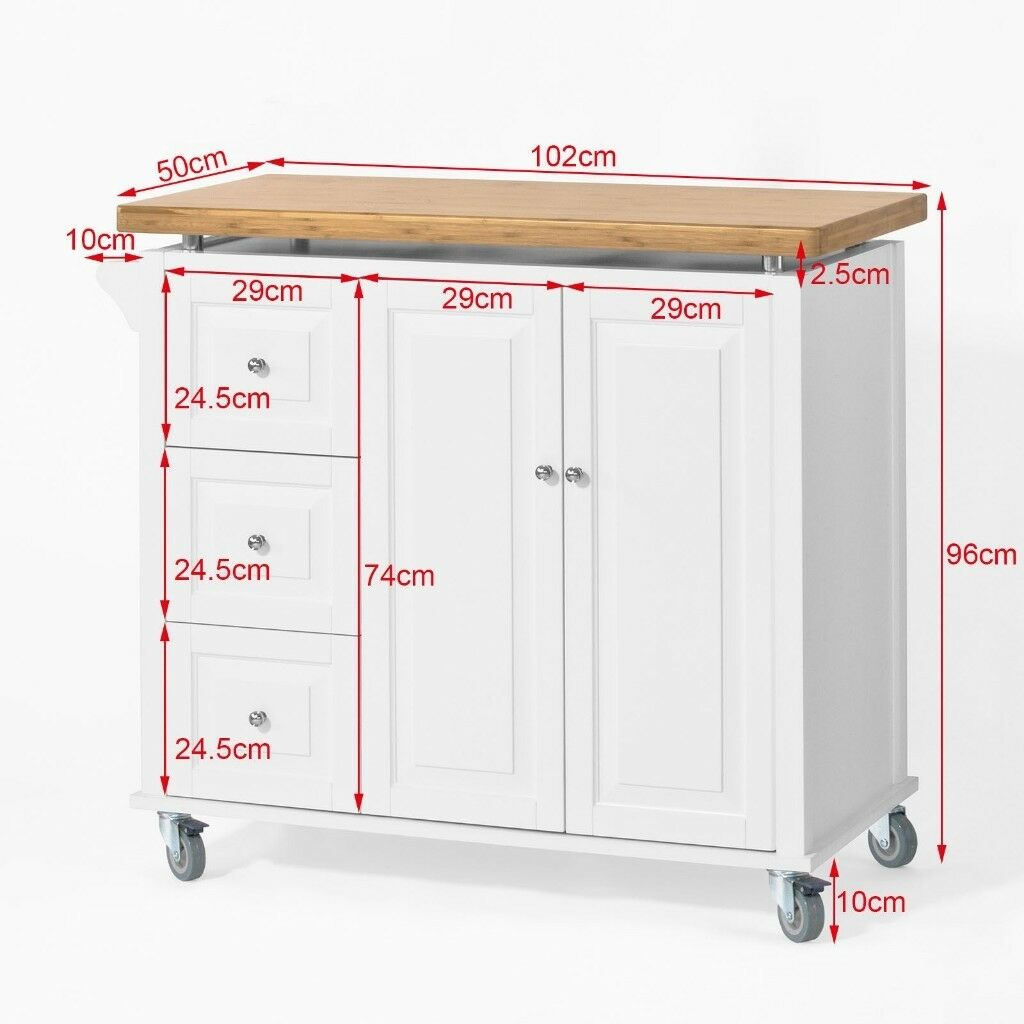 Sobuy Shop Sobuy Large Kitchen Island Storage Trolley Cart Dining Cabinet Fkw30 Wn Uk In Bedminster Bristol Gumtree