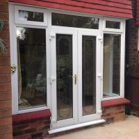 UPVC DOUBLE GLAZED FRENCH / PATIO DOORS IN FRAME   in ...