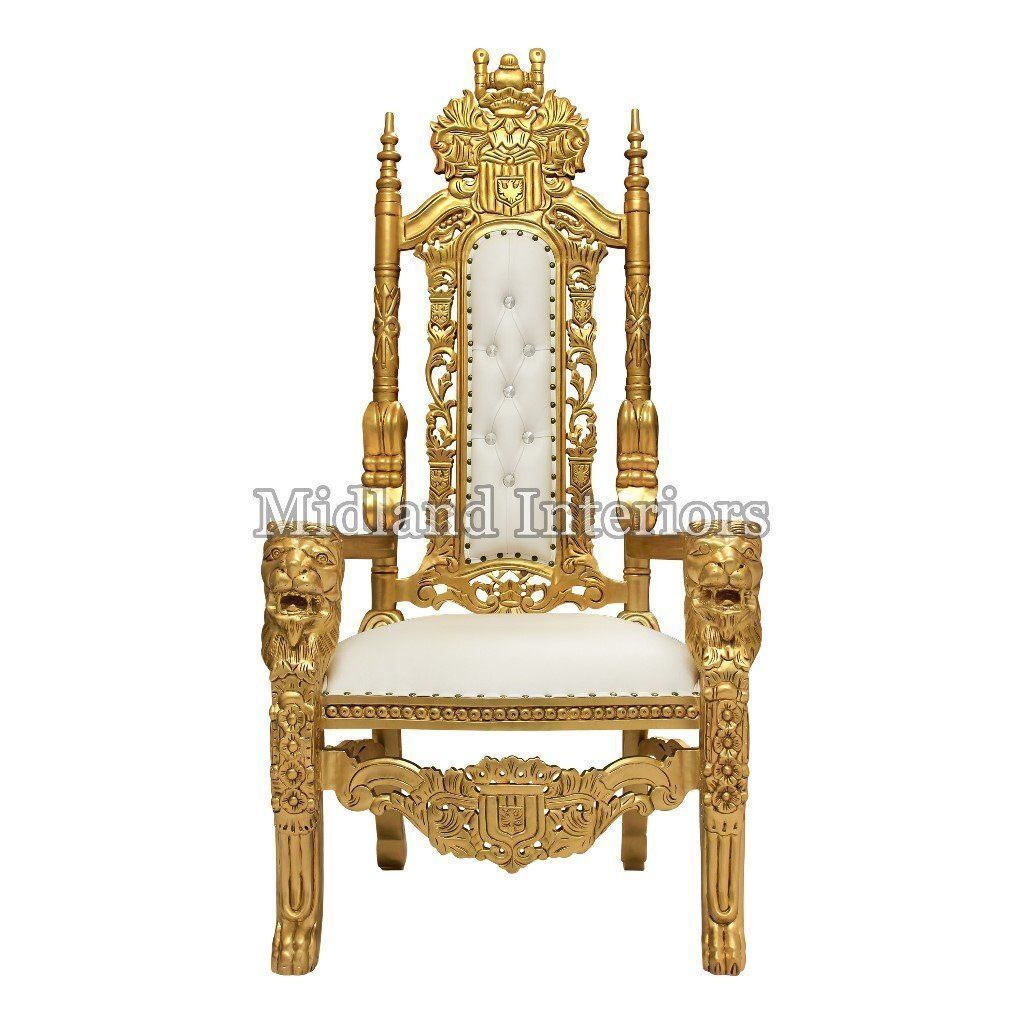 Luxury Chairs For Wedding 2 X New Gold Lion Queen Throne Chair Wedding Events Luxury