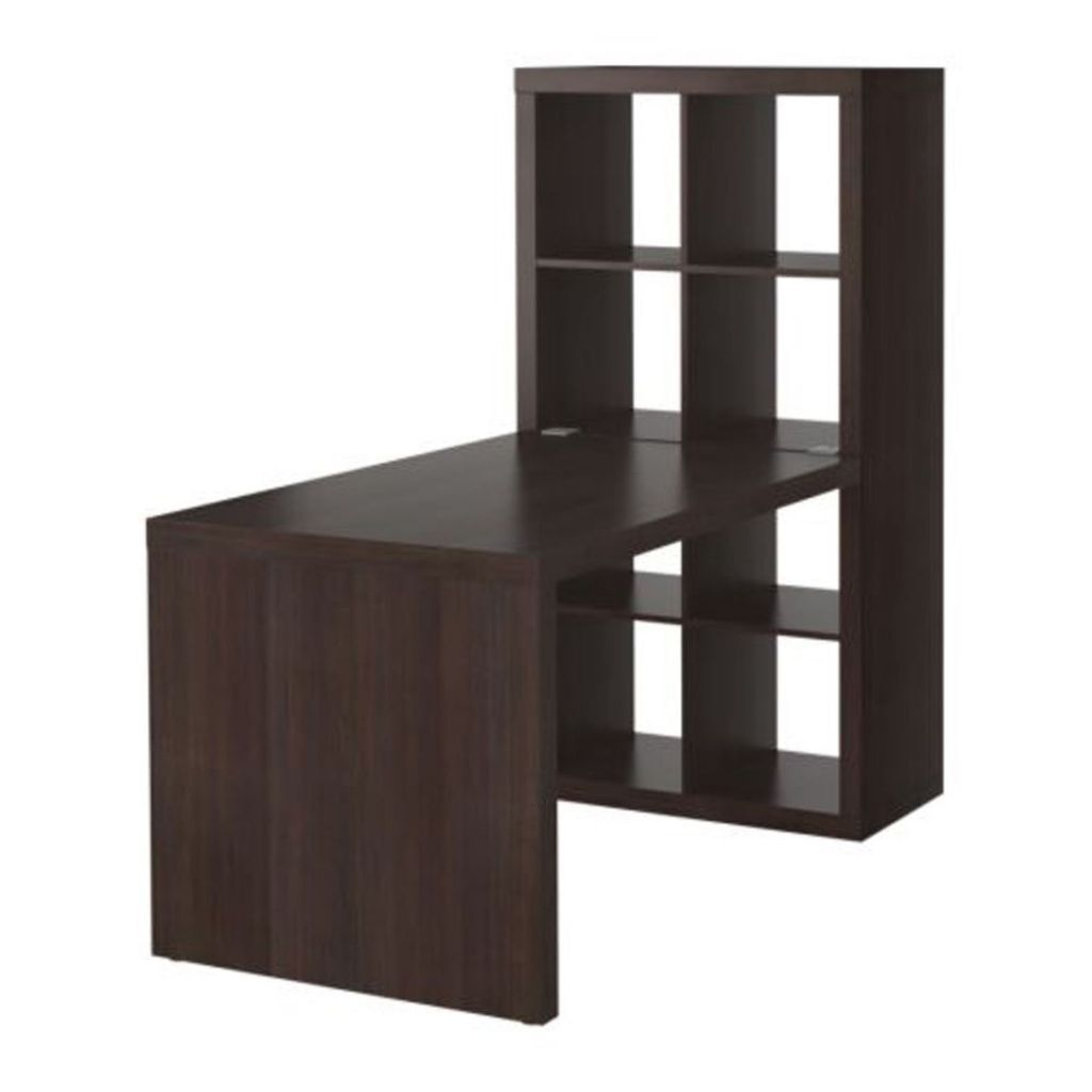 Kallax Expedit Ikea Kallax / Expedit Desk And 8 Section Shelving Unit In