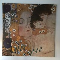 Large Ikea Print Canvas Wall Art by Klimt Mother and Child ...