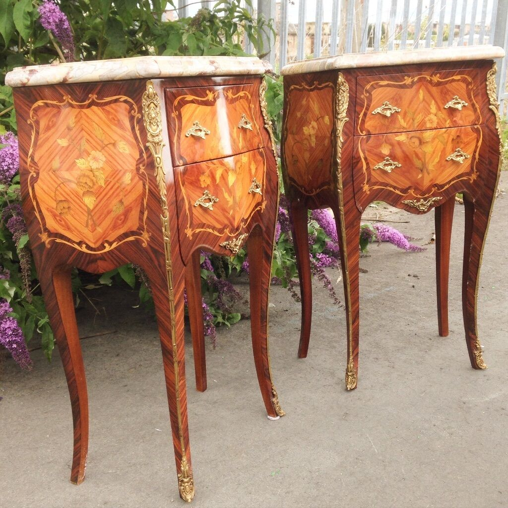 Antique Bedside Tables Antique French Bedside Tables In Govan Glasgow Gumtree
