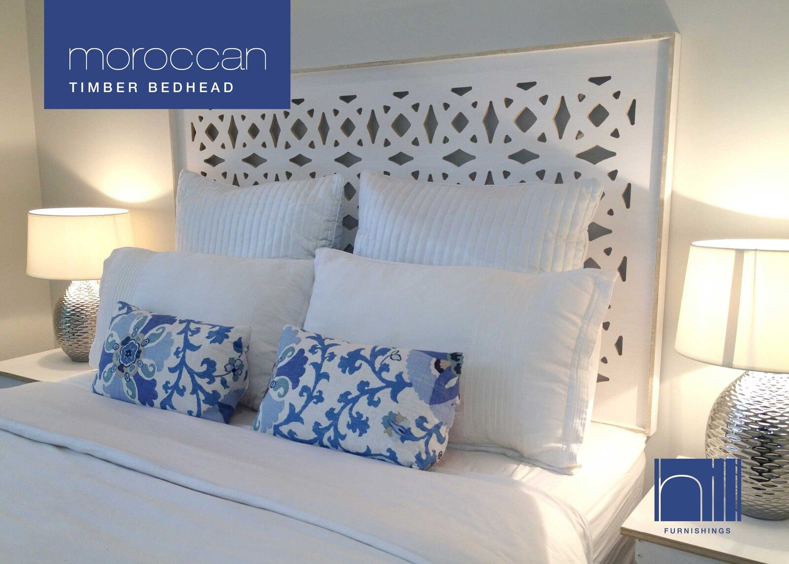 Headboard For Ensemble Moroccan Timber Bedhead Headboard For Double Ensemble