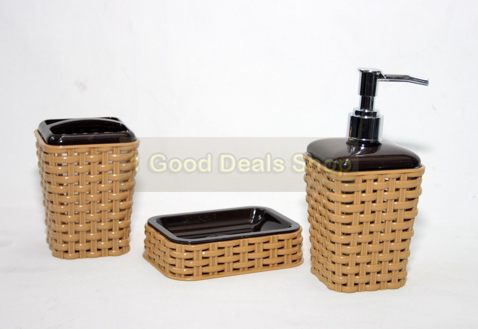 Stylish Soap Dispenser Stylish 3pc Bathroom Accessory Set Tumbler Lotion