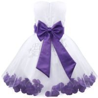 ROSE PETALS Flower Girl Dress Wedding Bridesmaid Birthday ...