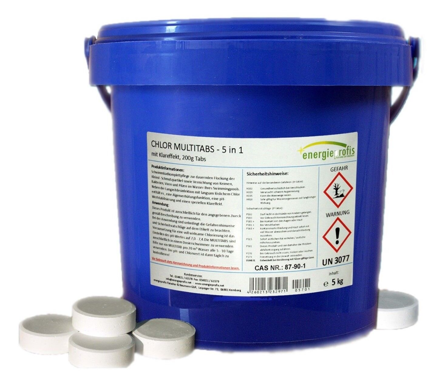 Multitabs Für Pool 10 Kg Multitabs 200g 5 In 1 Chlor Tabletten Desinfektion Pool