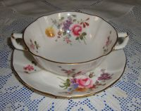 Royal Crown Derby DERBY POSIES Two Handled Soup Bowl