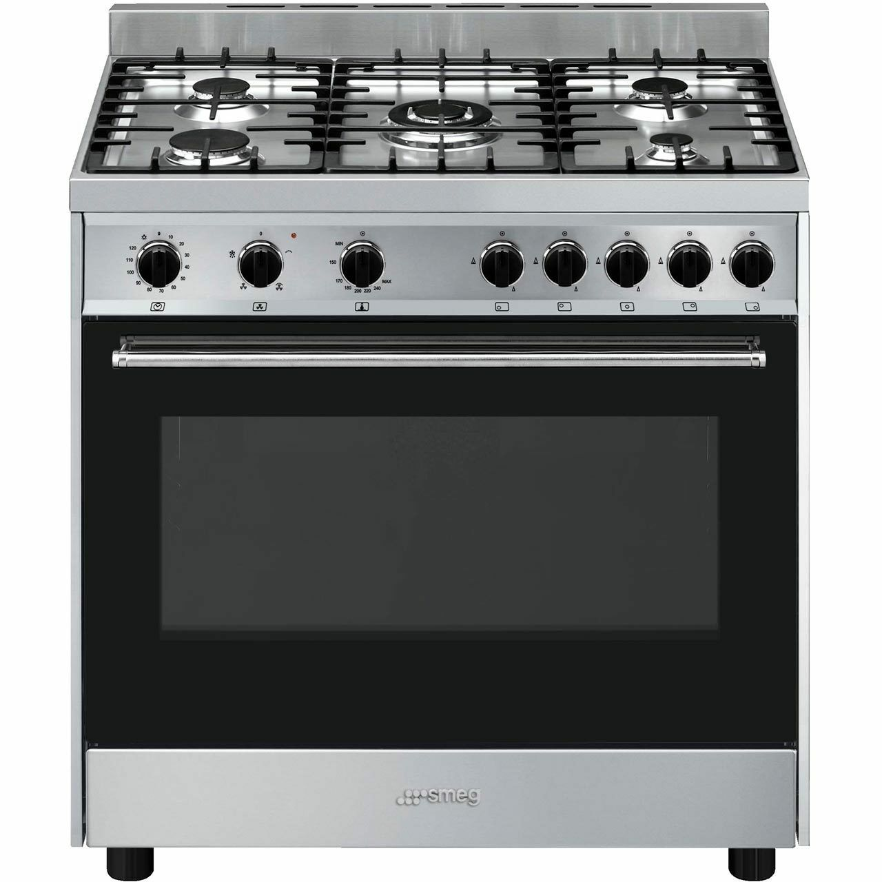 Cucina A Gas Smeg Vintage Smeg B90gvxi9 Cucina 90cm 5 Burners Gas Range Cooker Stainless Steel