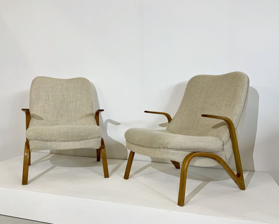 2x Konkav Sessel By Paul Bode Lounge Chair 50er Midcentury