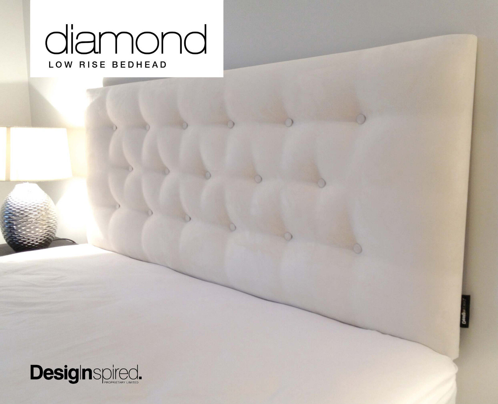 Upholstered Bed Head Diamond Low Rise Upholstered Bedhead Headboard For Queen