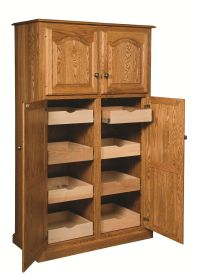 Amish Country Traditional Kitchen Pantry Storage Cupboard ...