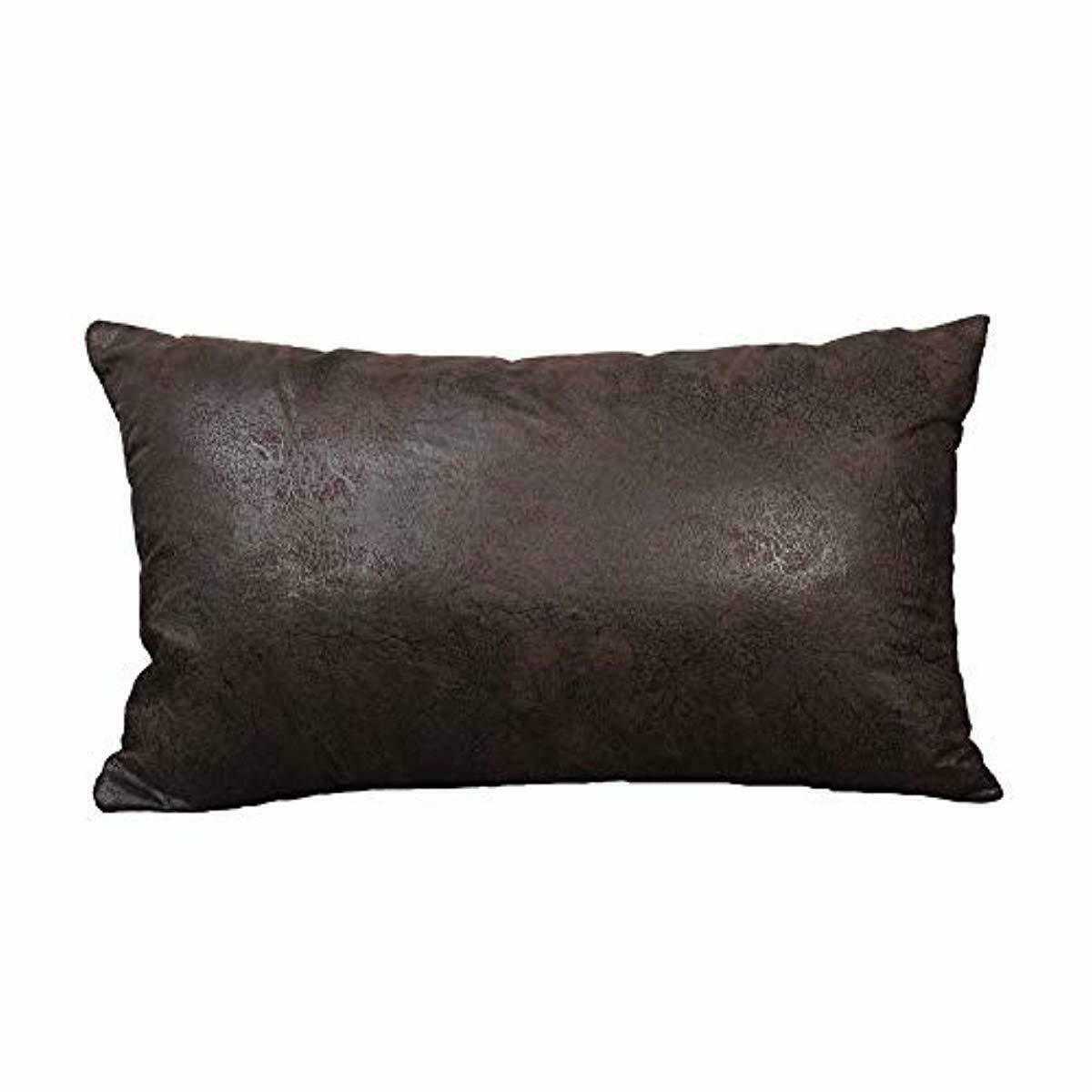Soft Faux Leather Pillow Cover Decorative Throw Lumbar Case Cushion For Couch Ebay