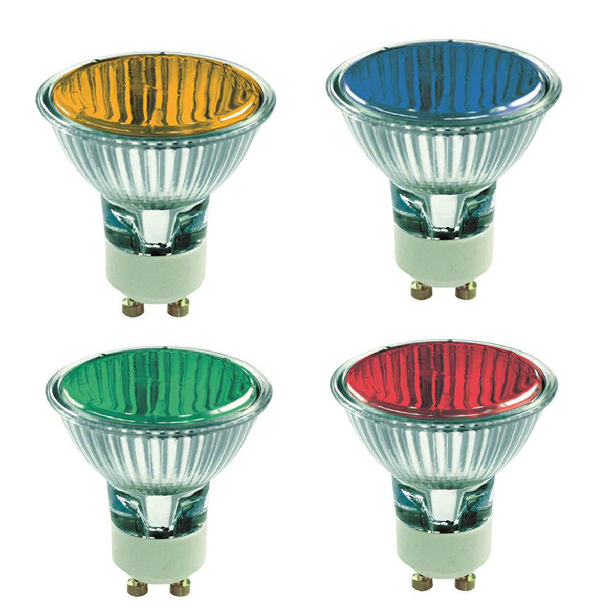 Halogen Gu10 Coloured Gu10 50w Halogen Light Bulbs Red Green Blue