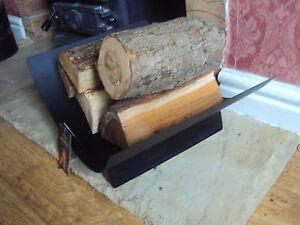 Black Fireplace Log Holder CRESCENT LOG HOLDER BLACK METAL FIREPLACE FIRESIDE ACCESSORIES | eBay