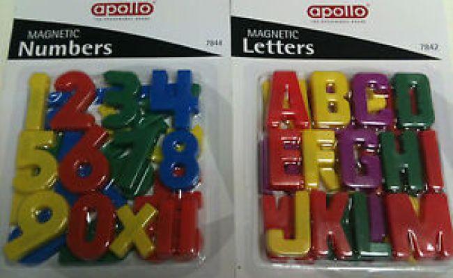 Educational Fridge Magnetic Number Alphabet Letters Kids