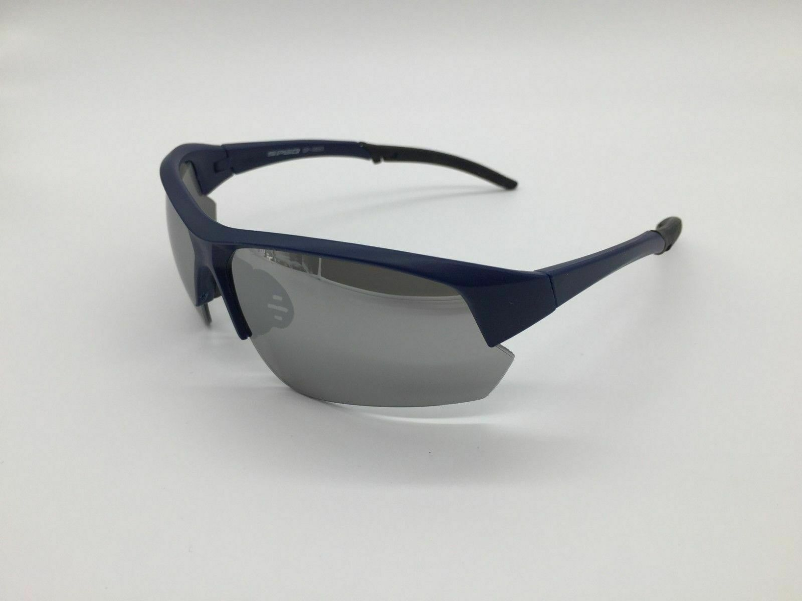 Mirror Frame Glasses Details About Men S 2019 Silver Mirror Lens Blue Frame Sports Wrap Sunglasses 100 Uv 400