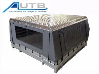 Aluminium Ute Canvas Canopy Hard Roof Checkerplate ...
