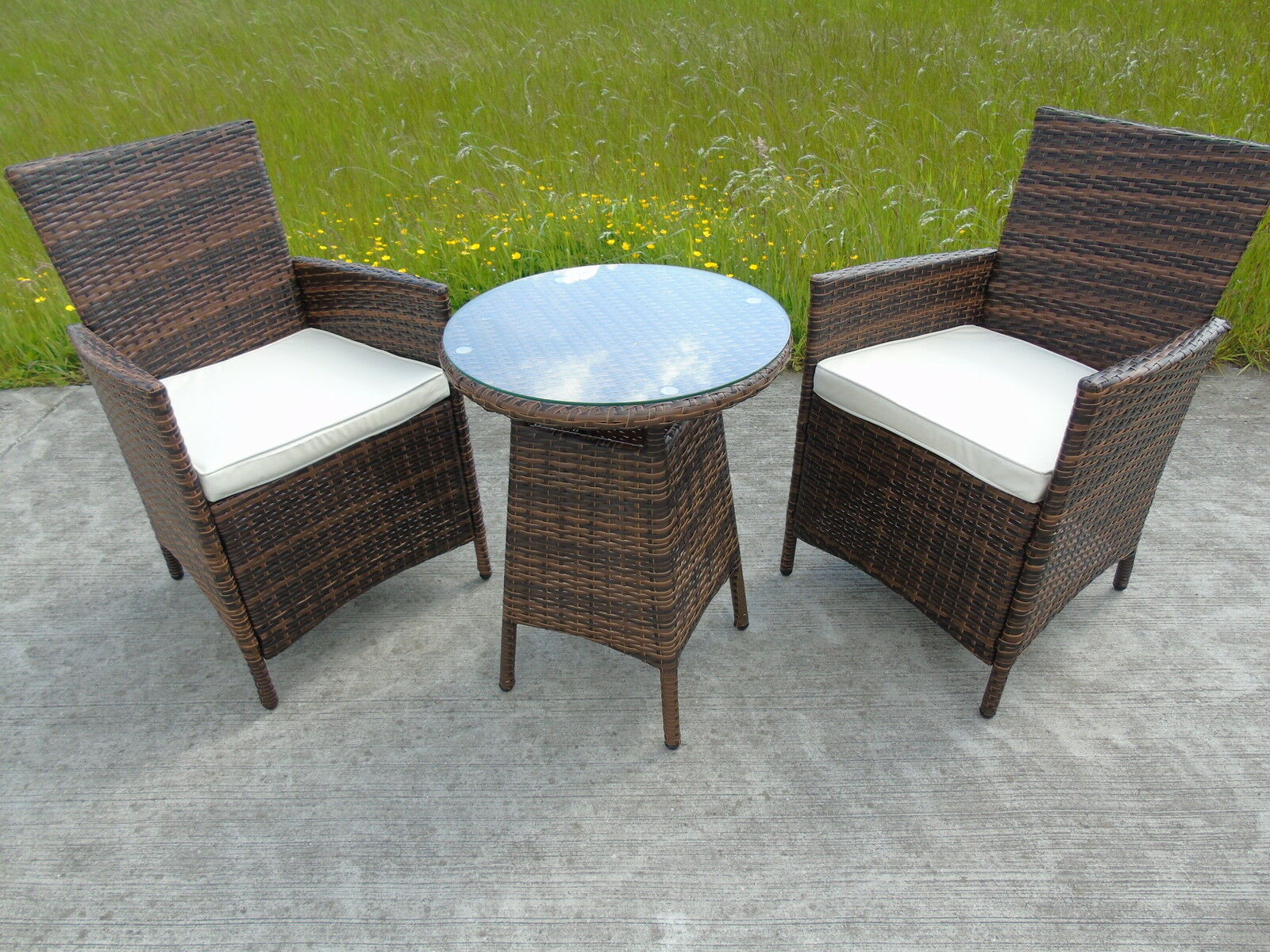 2 Seater Rattan Sofa Uk Rattan 2 Two Seater Chairs Dining Wicker Bistro Outdoor