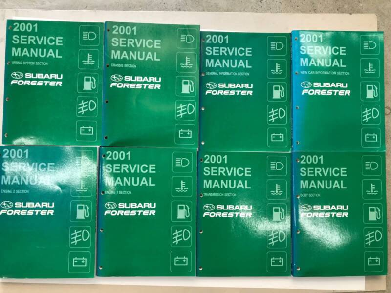 2001 Subaru Forester Genuine Service Manual Set Other Parts