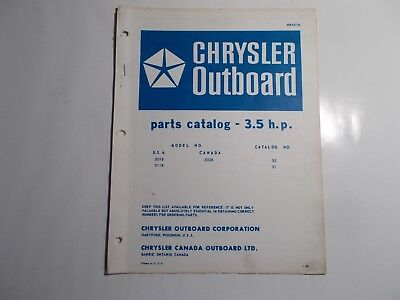 1968 Chrysler Outboard Part Catalog