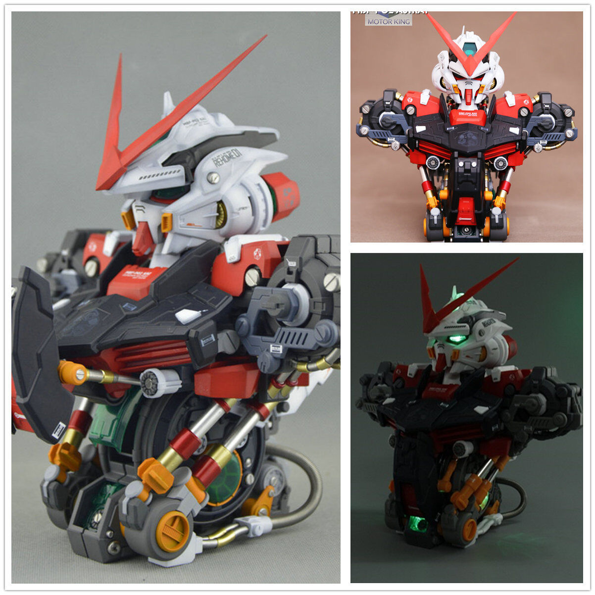 Led You Astray Details About Mk Motorking Model 1 35 Mbf P02 Astray Red Frame Gundam Bust Head With Led