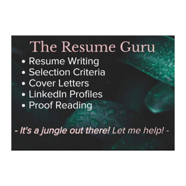 Resume Writing#47;Cover Letter#47;Selection Criteria #47;Linkedin