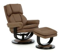Upton Luxury Swivel Recliner Chair Reclining Armchair FREE